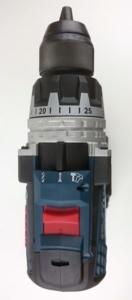 Foto von der Draufsicht des Bosch GSB 18V 85 Professional Akku Schlagbohrschrauber
