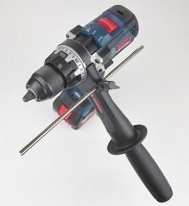 Foto vom Bosch GSB 18V-85 C mit Zusatzhandgriff & Tiefenanschlag